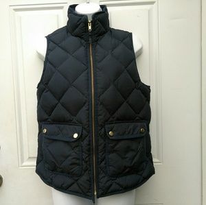 J Crew Quilted Diamond Puffer Vest